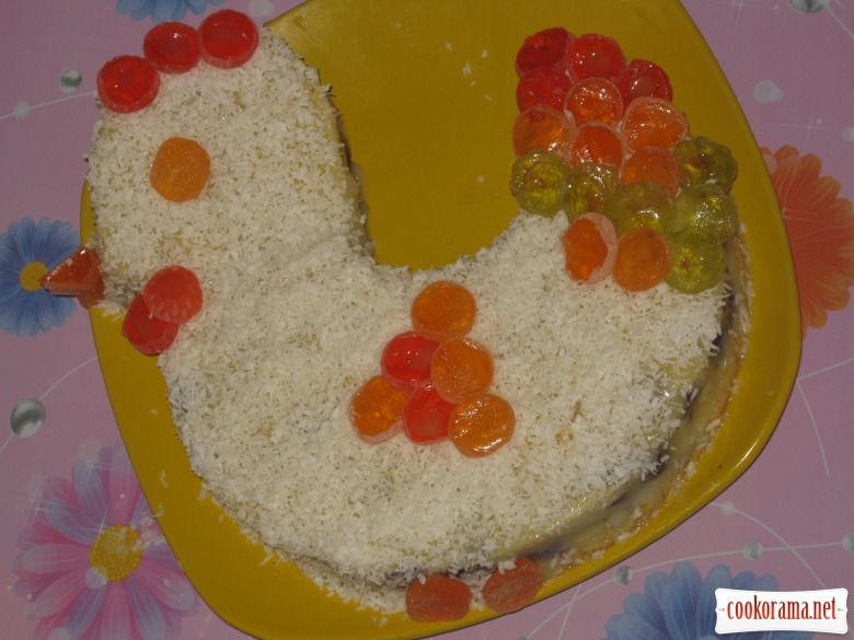 Торт «Курочка Ряба»