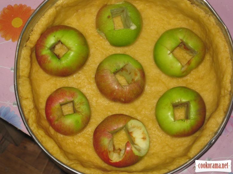 Необычный яблочно-творожный пирог
