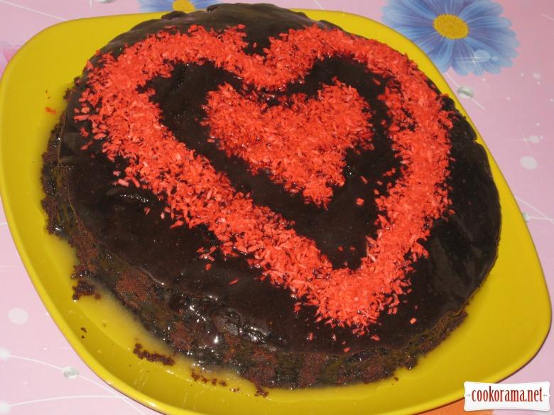 """Вишневый пирог """"С любовью в сердце"""""""