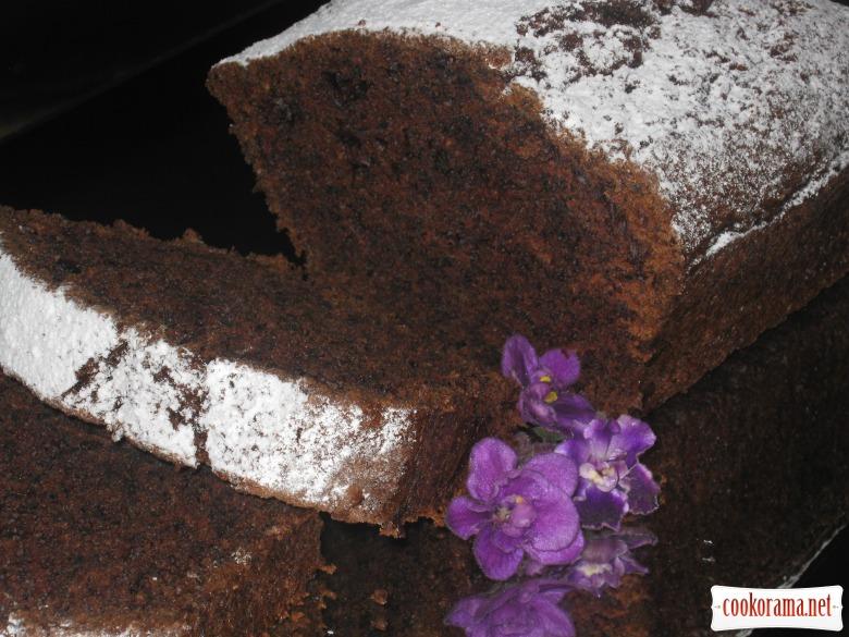 Шоколадный кабачковый кекс