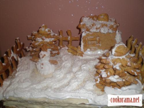 Торт «Зимний двор»
