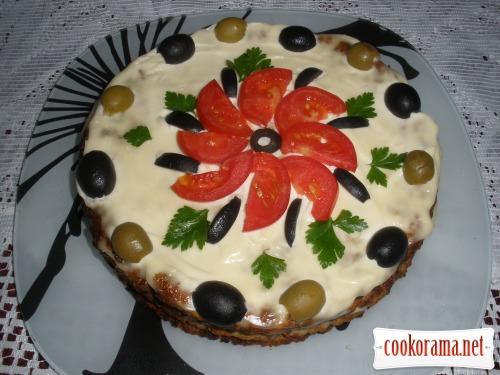 Торт из баклажанов «Обьедение»