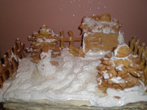 """Торт """"Зимове подвір'я"""""""