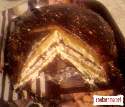 Торт «Любимый» с лимонным кремом на манке