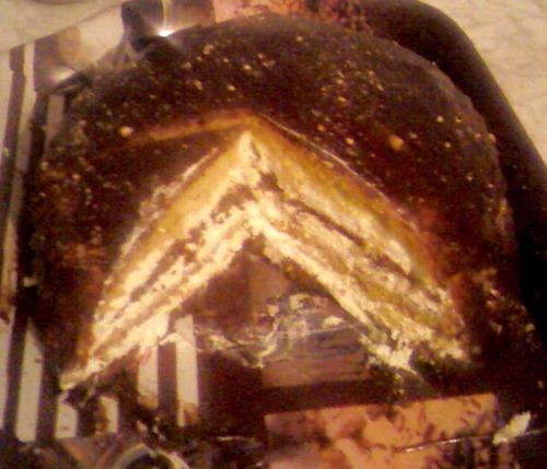 Торт «Улюблений» з лимонним кремом на манці