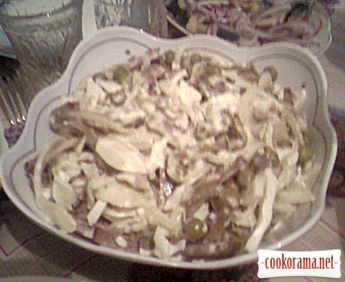 Салат з серцем і маринованою цибулею «Чоловічий каприз»