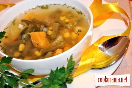 Овощной суп с тыквой и сельдереем