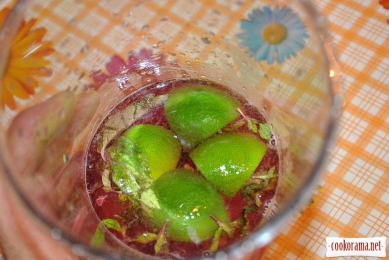 Вишневий мохіто безалкогольний