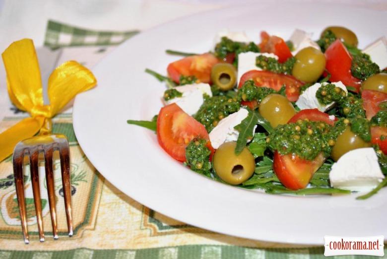 Овощной салат в средиземноморском стиле