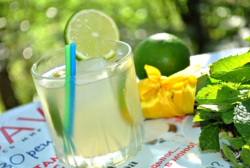 Lemonade with hints of basil