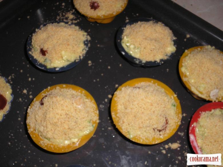 Кабачкові кекси з хрумкою посипкою