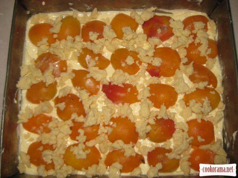Абрикосово-сирний пиріг