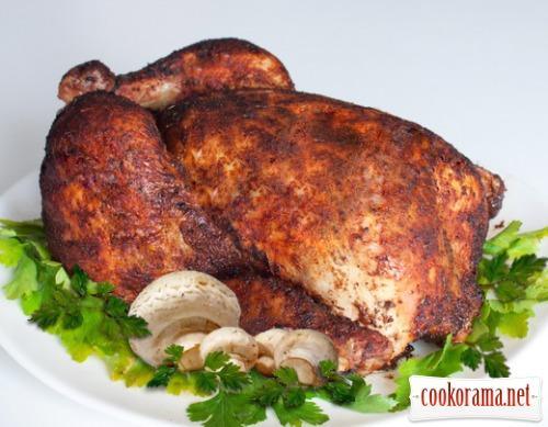 Курица с шампиньонами под соевым соусом