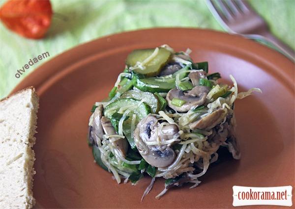Грибний салат з селерою