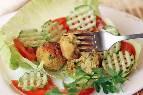 Фалафель с овощами