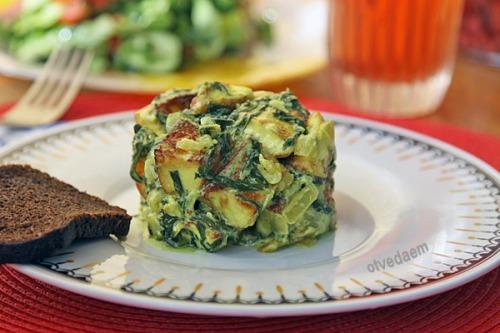 Адыгейский сыр со шпинатом (Палак панир)