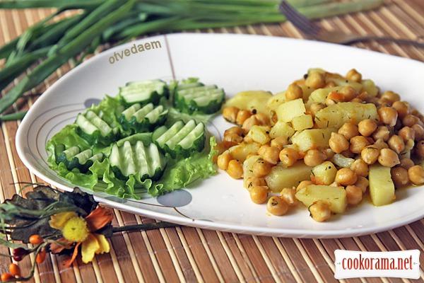 Сабджі з картоплі і нуту