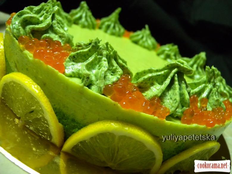 Закусочний торт з червоної риби (святковий варіант)