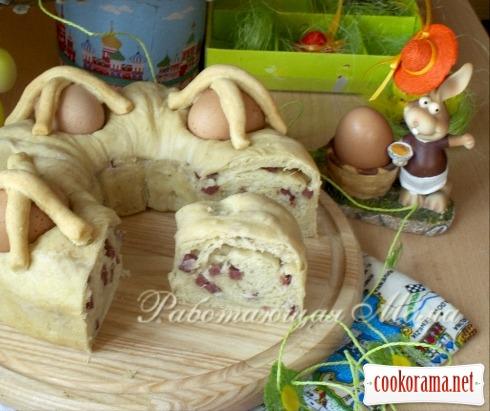 Итальянский пасхальный хлеб Casatiello Napolitano