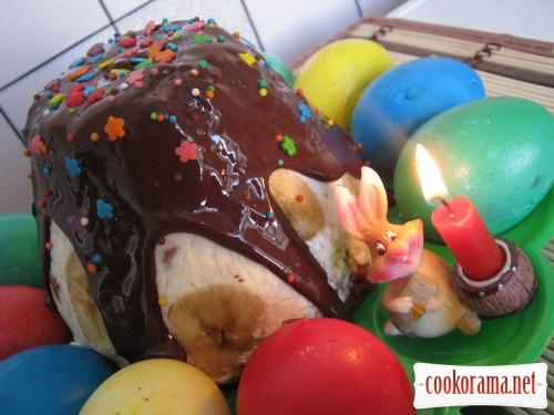 Пасхальный кекс «Творожная нежность» с бананами и финиками