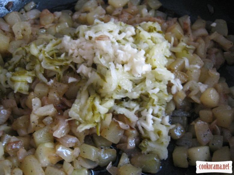 Салат «Зеленое Лето» с кабачками и малосольным огурчиком