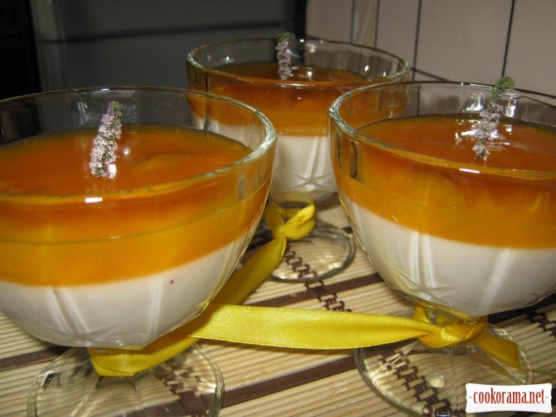 """Йогуртно-абрикосовый десерт """"Оранжевое настроение"""""""