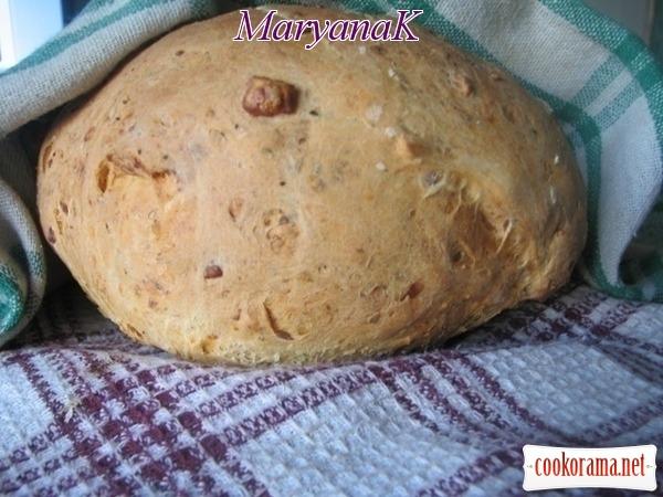 Хліб домашній з начинкою