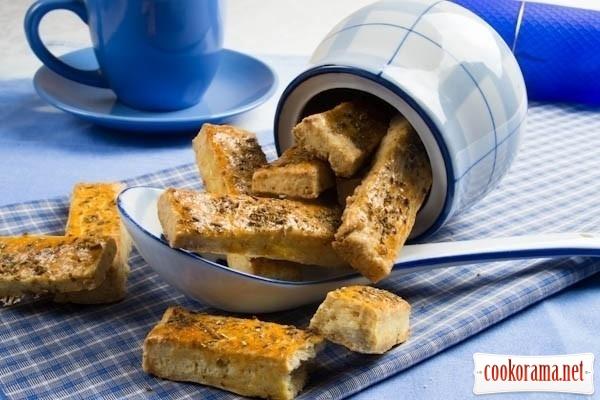 Сырные сухарики (печенье соленое)