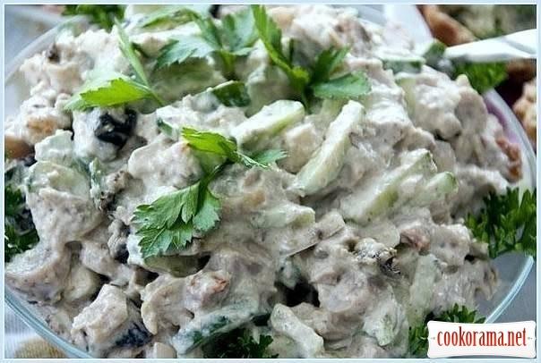 Зелений салат (легкий і ситний)