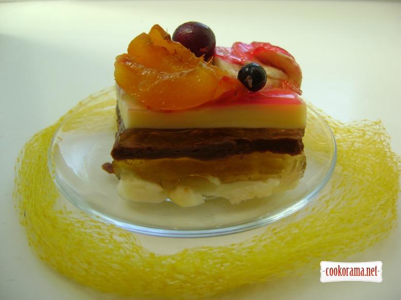 Желейно - пудинговый тортик