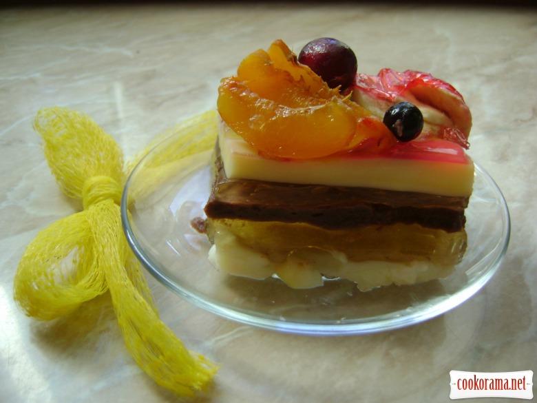 Желейно-пудинговий тортик