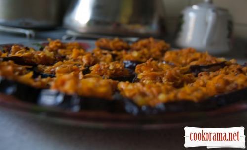 Острые баклажаны с морковью