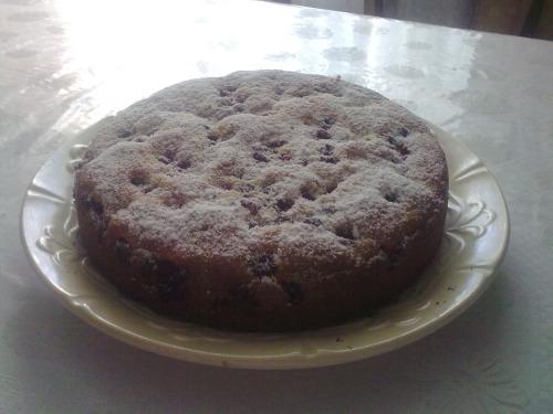 Пиріг з ожиною та чорницями