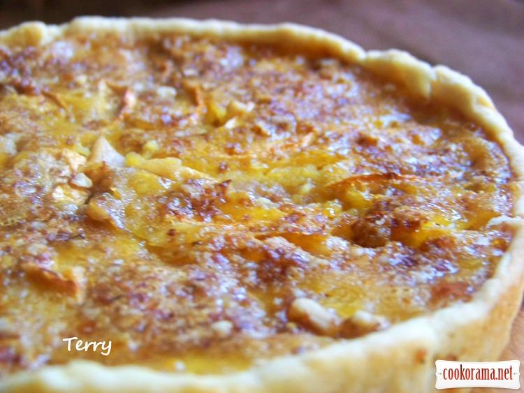 Яблучний пиріг з медом і лимоном
