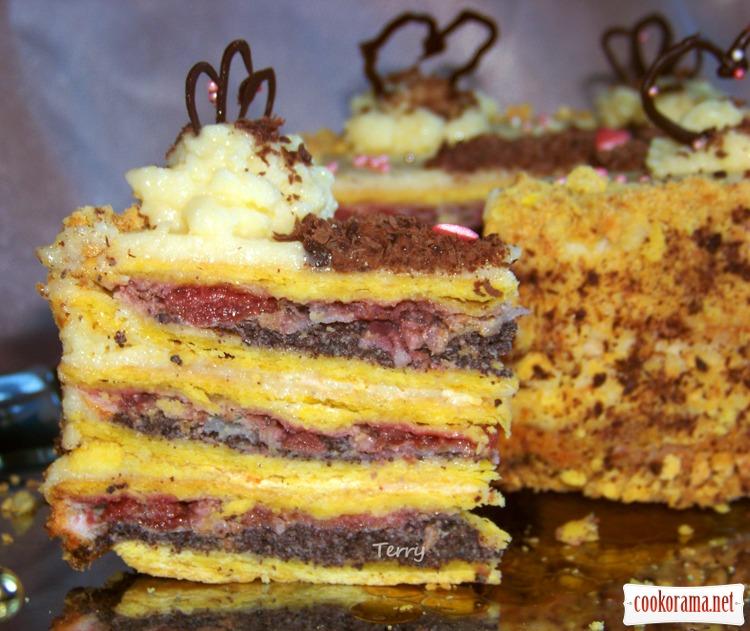 Торт з вишнею рецепт з