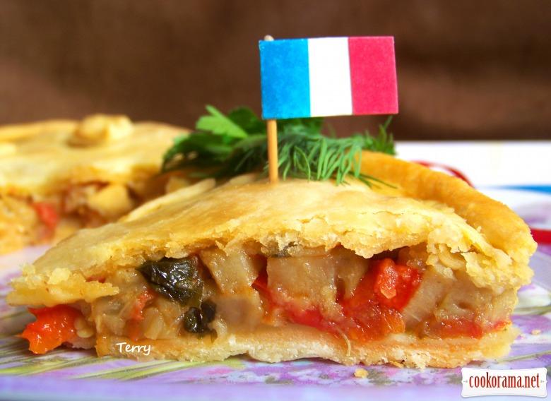 Пиріг з рататуєм - Tourte a la ratatouille