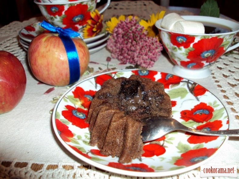 Cakes with chocolate in 5 min
