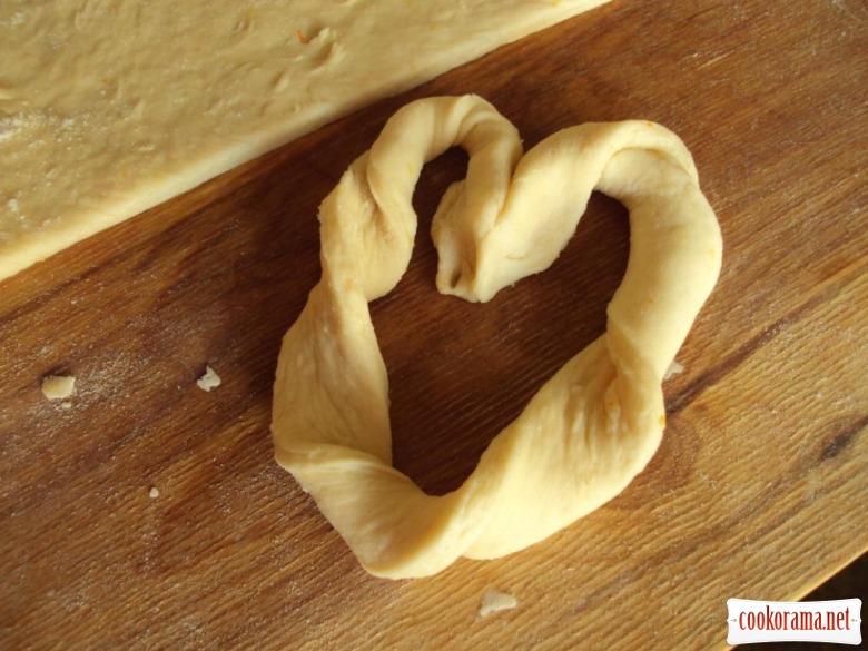 Валентинки «Коричневі серця»