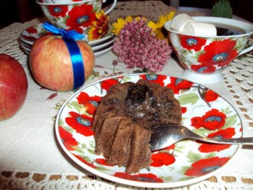 Кексики с шоколадом за 5 минут