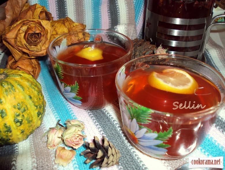 Кукорамівці, пропоную провести флешмоб Зігріваючих напоїв.  І чай « Lemon & Cranberry»