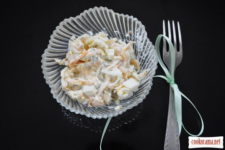 Гарбузово-яєчний салат