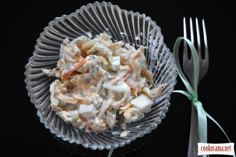 Тыквенно-яичный салат