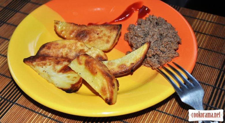 Запечена картопля з горіховою пастою