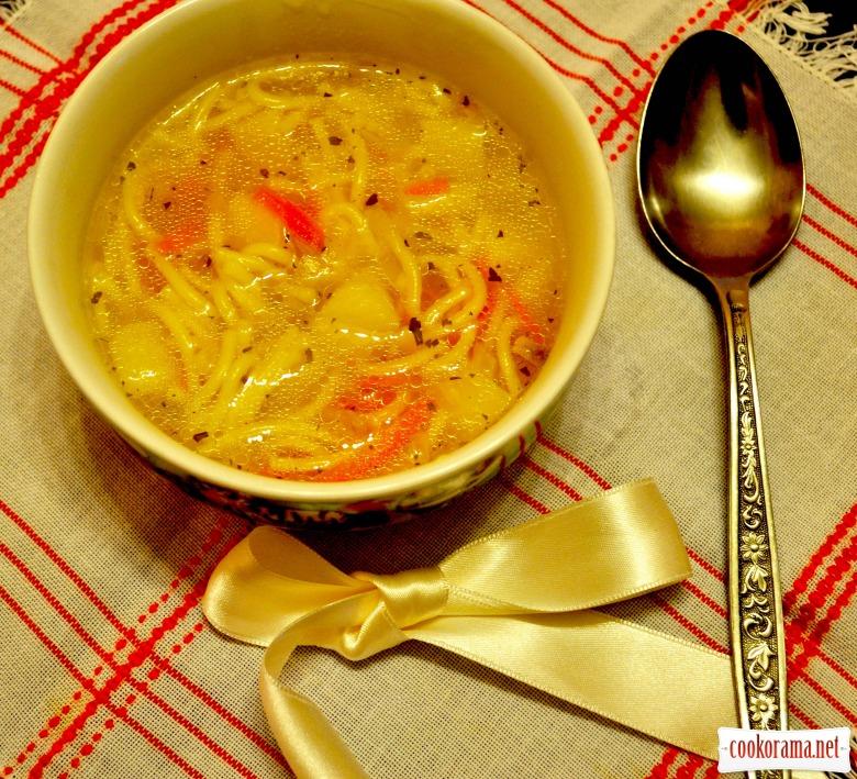 Пісний суп із вермішеллю