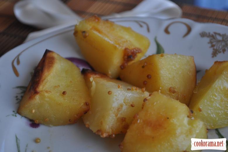 Картопля у медово-гірчичному соусі