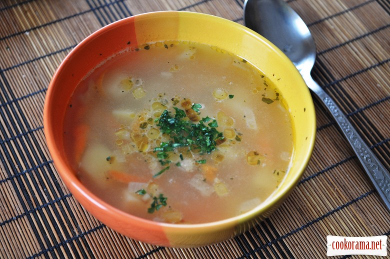 Суп з галушками