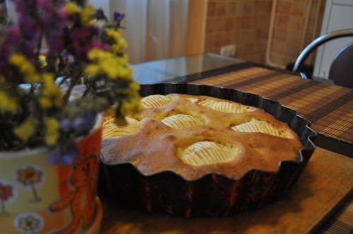 Яблучно-горіховий пиріг