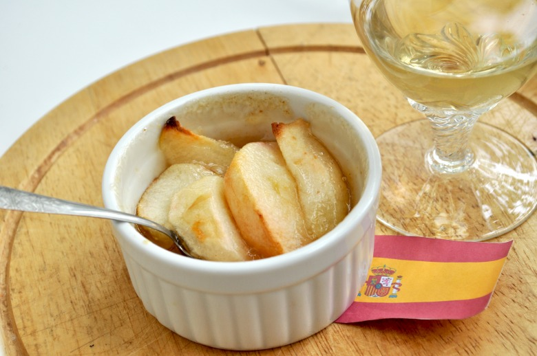 Яблука у винному кремі (Crema de Vino Blanco)