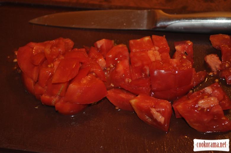 Сирно-помідоровий салат