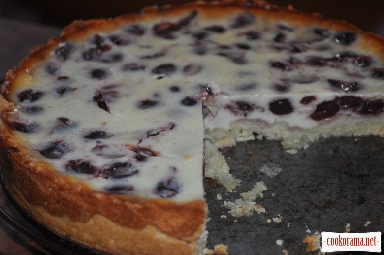 Пирог на сметане с ягодами рецепт с